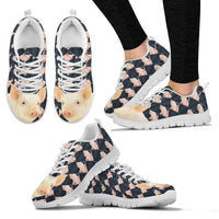 Danish Landrace Pig Print Christmas Running Shoes For Women-Free Shipping