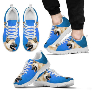 Norwegian Buhunds Dog Print (Black/White) Running Shoes For Men-Limited Edition-Express Shipping