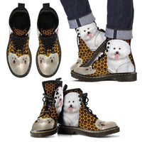 Bichon Frise Print Boots For Men- Express Shipping