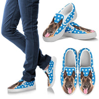 Belgian Malinois Dog Slip Ons For Women-Free Shipping