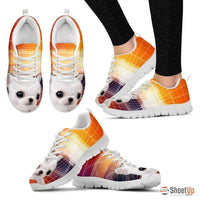 White Chihuahua Dog-Running Shoes For Women-Free Shipping