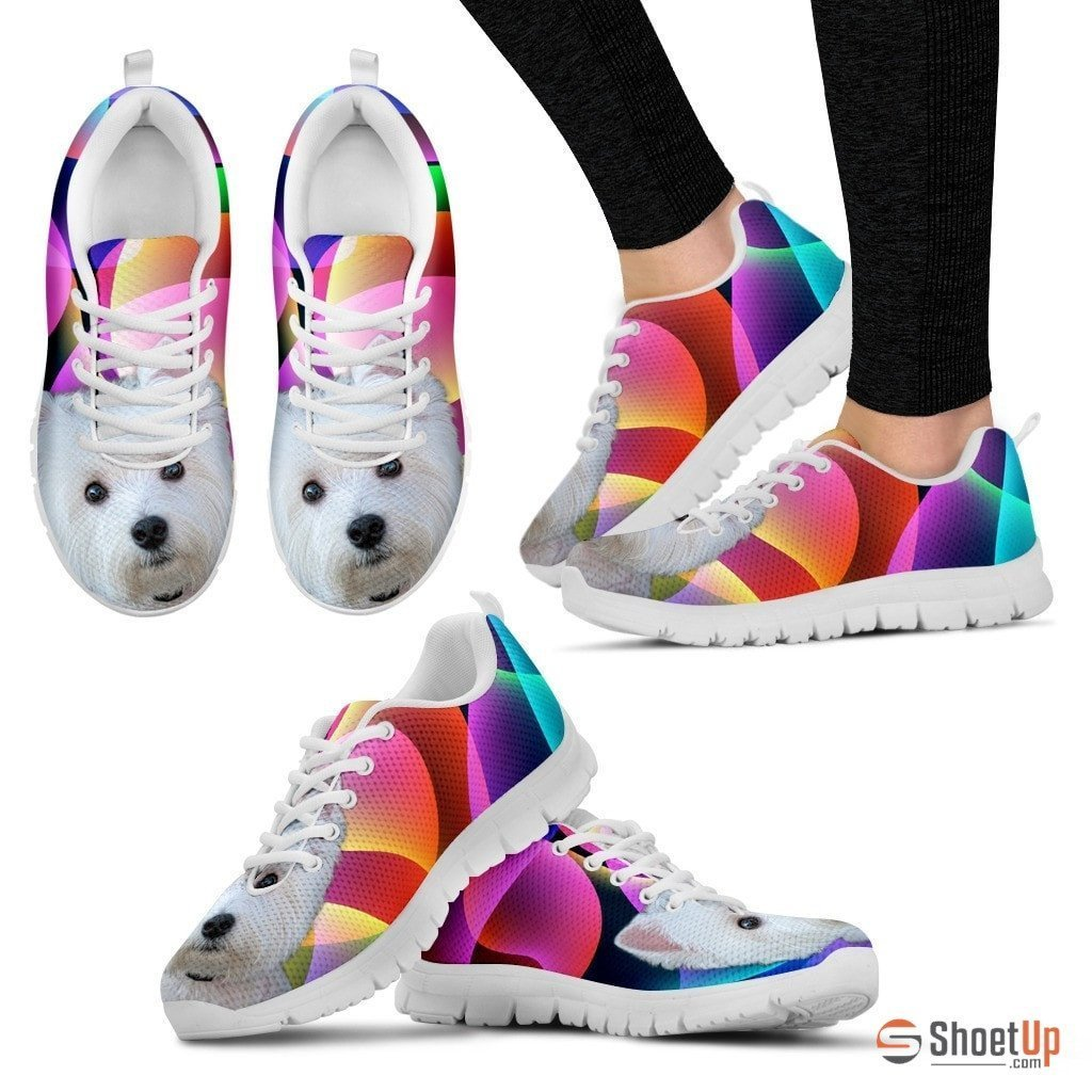Westie Dog Running Shoes For Women-Free Shipping