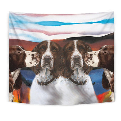 English Springer Spaniel Print Tapestry-Free Shipping