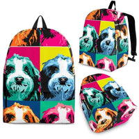 Bearded Collie Print Backpack- Express Shipping