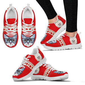 Siberian Cat Christmas Running Shoes For Women- Free Shipping