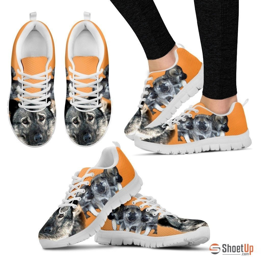 Norwegian Elkhound-Dog Running Shoes For Women-Free Shipping