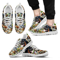 Lovely Rottweiler Print-Running Shoes For Men-Express Shipping