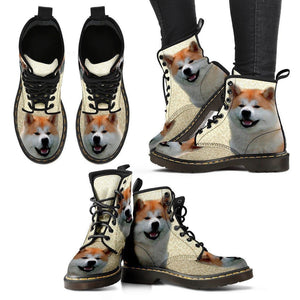 Akita Print Boots For Women-Express Shipping