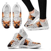 Awesome Dog Print Running Shoes For Women-Express Shipping-Designed By Camilla Sanner