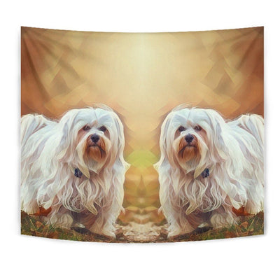 Havanese Dog Art Print Tapestry-Free Shipping