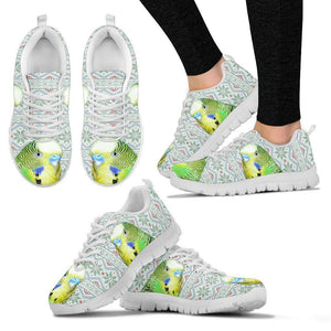 Budgerigar Parrot Print Christmas Running Shoes For Women-Free Shipping