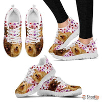 Berger Picard Dog (White/Black) Running Shoes For Women-Free Shipping