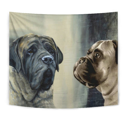 Amazing English Mastiff Print Tapestry-Free Shipping