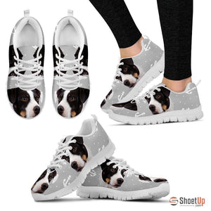 DANISH SWEDISH FARMDOG Dog Print (Black/White) Running Shoes For Women-Free Shipping