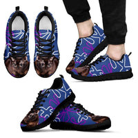 Burmese Cat  Print (White/Black) Running Shoes For Men-Free Shipping