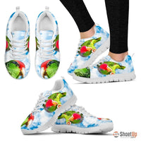 Amazon Red Headed Parrot Print Running Shoes For Women-Free Shipping