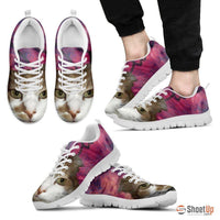 Cat Print Pink Running Shoe Men- Free Shipping