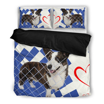 Valentine's Day Special-Cardigan Welsh Corgi Print Bedding Set-Free Shipping