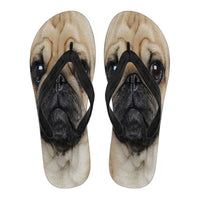 Pug Flip Flops For Men-Free Shipping