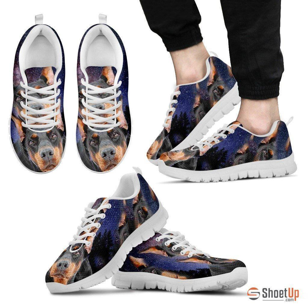 Doberman Print Running Shoe (Men And Women)- Free Shipping