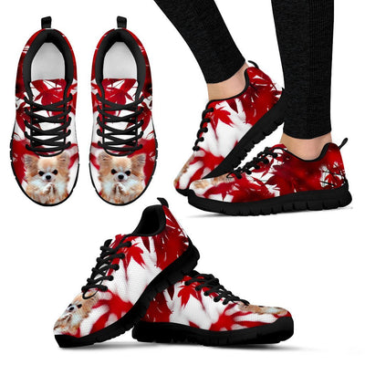 Valentine's Day Cute Chihuahua Dog On Red Print Running Shoes For Women- Free Shipping
