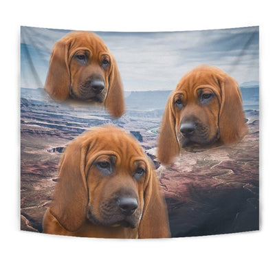 Lovely Redbone Coonhound Print Tapestry-Free Shipping