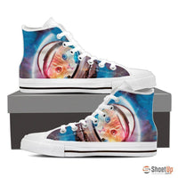 High Top Canvas Shoes - Free Shipping