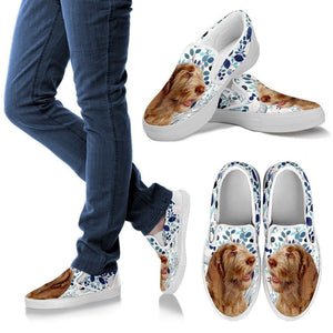 Spinone Italiano Dog Print Slip Ons For Women-Express Shipping