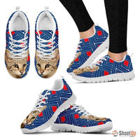Savannah Cat Print Running Shoes For Women-Free Shipping