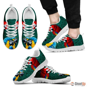 Scarlet Macaw Parrot Running Shoes For Men-Free Shipping Limited Edition