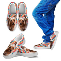 Silky Terrier Print Slip Ons For Kids- Express Shipping