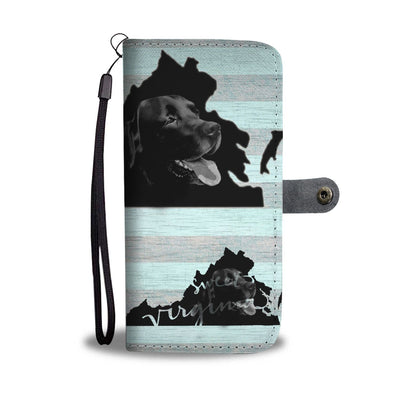 Black Labrador Dog Print Wallet Case-Free Shipping-VA State
