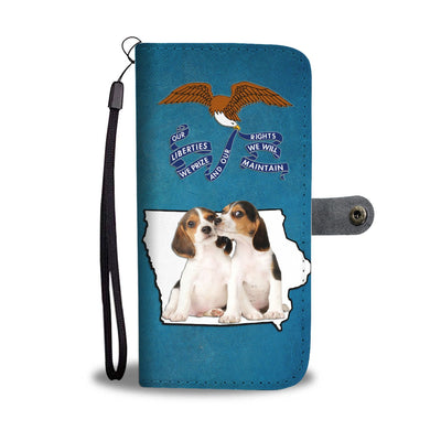 Cute Beagle Print Wallet Case- Free Shipping-IA State