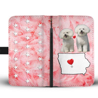 Lovely Bichon Frise Print Wallet Case-Free Shipping- IA State