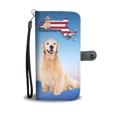 Golden Retriever Print Wallet Case-Free Shipping-MA State