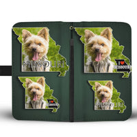 Cute Yorkie Print Wallet Case-Free Shipping-MO State