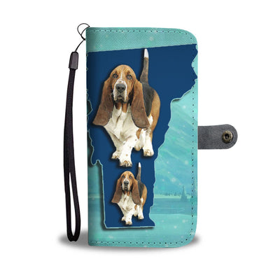 Cute Basset Hound Print Wallet Case-Free Shipping-VT State