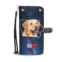 Cute Labrador Retriever Print Wallet Case- Free Shipping-IA State