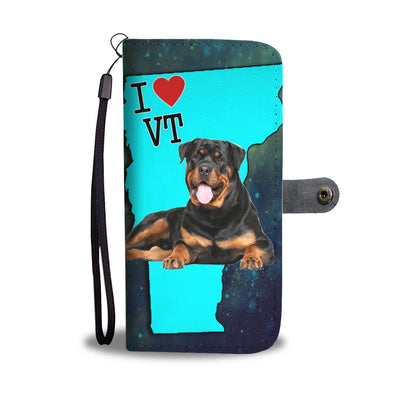 Rottweiler Dog Print Wallet Case-Free Shipping-VT State