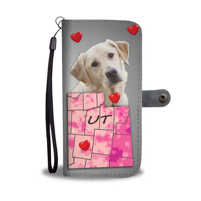 Labrador Retriever Print Wallet Case- Free Shipping-UT State