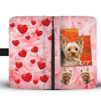 Yorkshire Terrier On Pink Print Wallet Case-Free Shipping-UT State