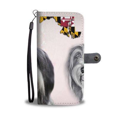Bearded Collie Print Wallet Case-Free Shipping-MD State