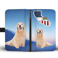 Golden Retriever Print Wallet Case-Free Shipping-CA State