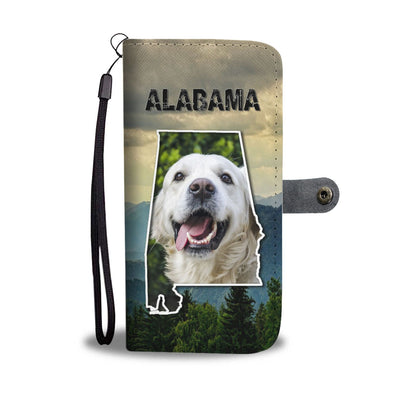 Golden Retriever Print Wallet Case-Free Shipping-AL State