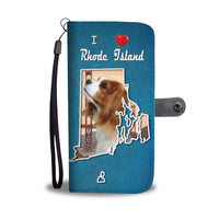 Cute Cavalier King Charles Spaniel Print Wallet Case-Free Shipping-RI State
