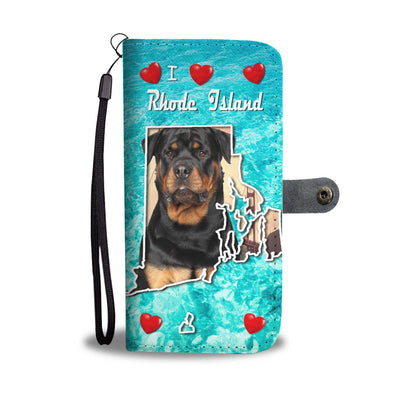 Cute Rottweiler Dog Print Wallet Case-Free Shipping-RI States