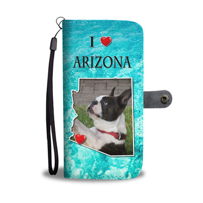 Lovely Boston Terrier Print Wallet Case-Free Shipping-AZ State
