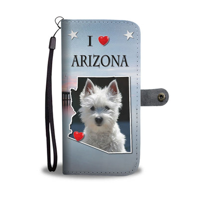 Cute West Highland White Terrier Print Wallet Case-Free Shipping-AZ State