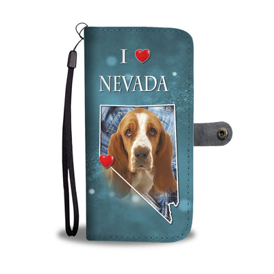 Cute Basset Hound Print Wallet Case-Free Shipping-NV State