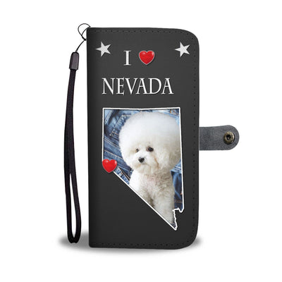 Bichon Frise On Black Print Wallet Case-Free Shipping-NV State